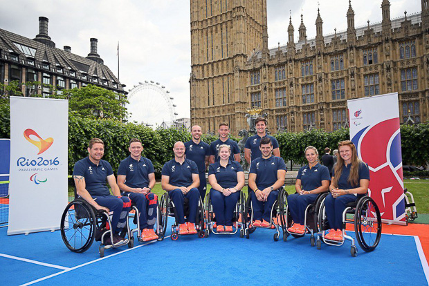 ParalympicsGB Rio 2016 wheelchair tennis team