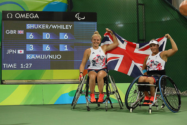 jordanne Whiley Lucy Shuker Wheelchait Tennis Scoreboard